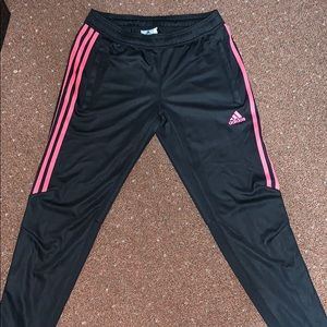 Adidas half pink stripped tracksuit pants